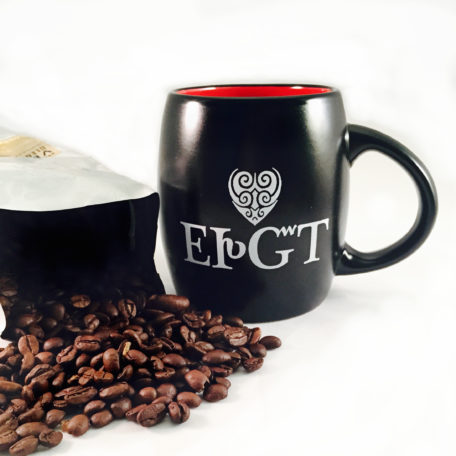 Ceramic I Love You Mug=Black