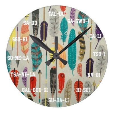 Arrows and Feathers Clock