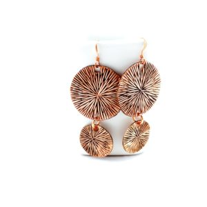 Copper Sunburst Earrings