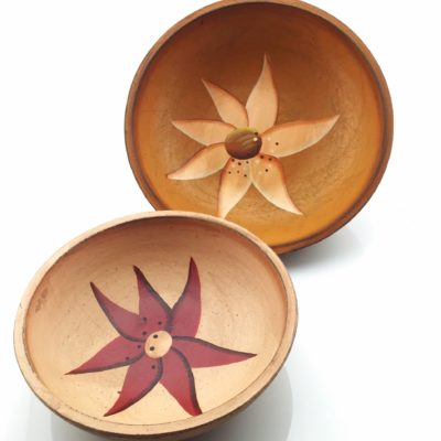 Wooden Bowl Set Hand Painted Cherokee Seven Star
