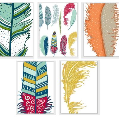Note Card Set-Cherokee Feathers