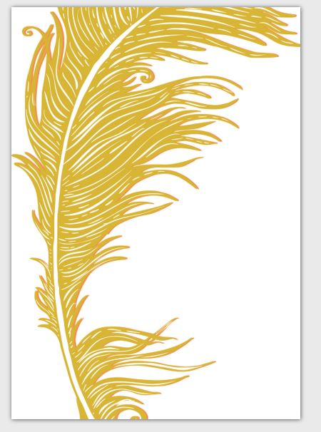 Feathers Card Yellow