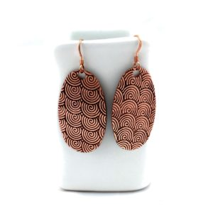 Copper Raging River Earrings