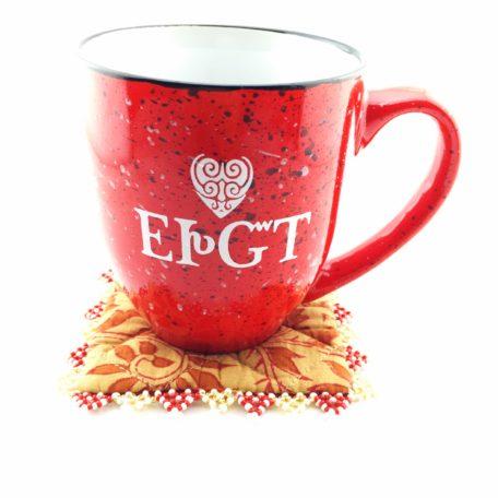 Ceramic I Love You Mug Red