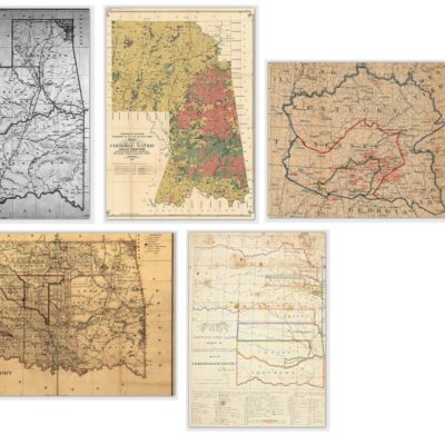 Historical Cherokee Nation Map Card Set