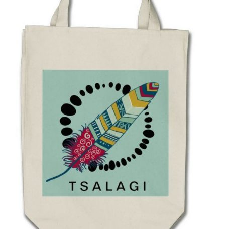 Tote Canvas One Feather Large