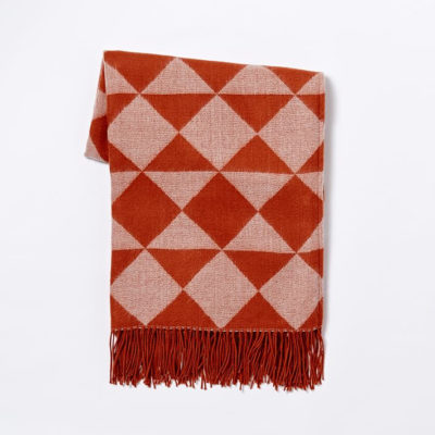 red triangle acrylic throw