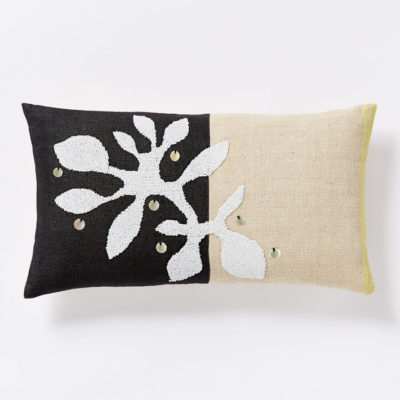 beaded branch pillow cover
