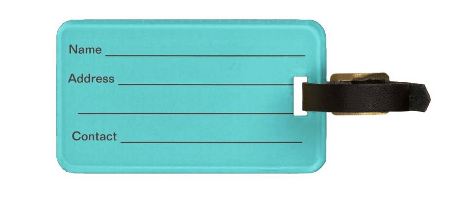 Blue Fly Away Luggage Tag Back