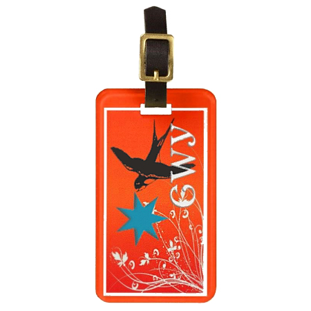 Red Fly Away Luggage Tag