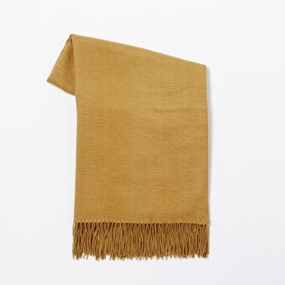 Buckskin color acrylic throw