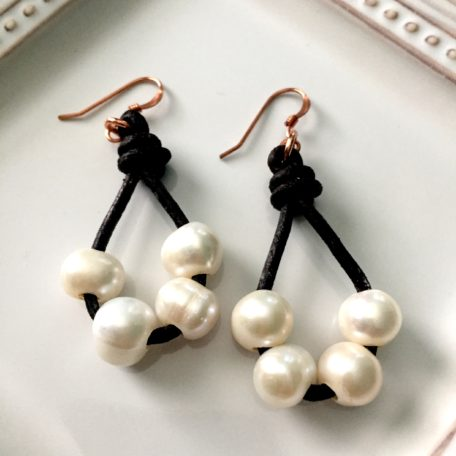 Four Pearl Earrings
