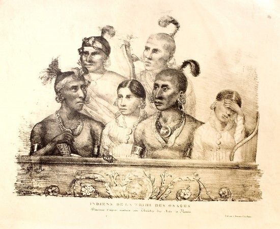 The Osage Attend an Opera. Published in a French newspaper ca 1827