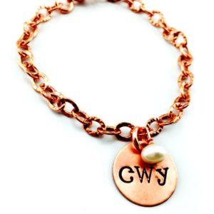 Copper Cherokee Charm Bracelet