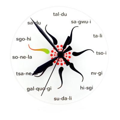 Acrylic Clock Seven Star Pattern Round