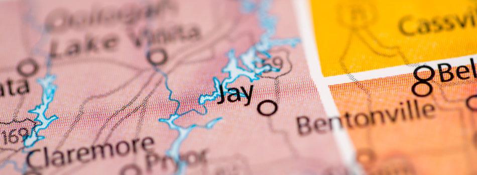 Jay Oklahoma Map
