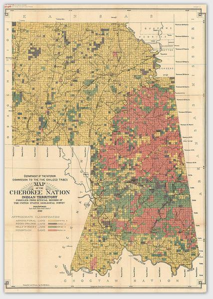 Cherokee Topographical Map