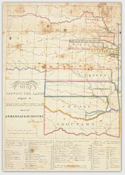 Cherokee Assigned Lands Map