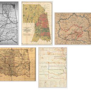Historical Cherokee Nation Map Card Set