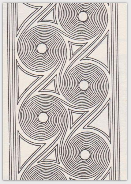 Pottery Design Card Set Swirl Design