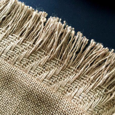 Burlap Pillow Fringe Detail