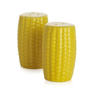 Stoneware Corn Salt and Pepper Shaker Set