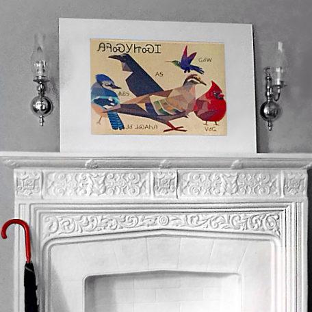 Cherokee Birds Wood Print Framed Example